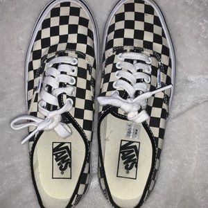 Checkered Laced Vans!